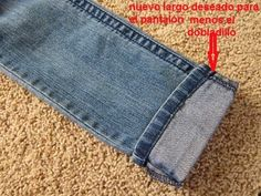 Truco para acortar un pantalón manteniendo el remate original   Aprender manualidades es facilisimo.com
