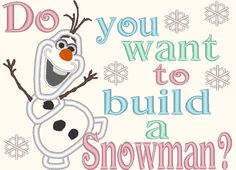 Olaf from Frozen Do You Want To Build a Snowman Applique Embroidery for Machine Design 3 Sizes on Etsy, $3.00