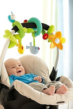 Amazon.com : HABA Meadow Friends Baby Play Spiral : Baby Stroller Toys : Baby