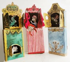 Carl has the Funk: Punch and Judy in a Matchbox Matchbox Crafts, Matchbox Art, Diy And Crafts, Crafts For Kids, Arts And Crafts, Punch And Judy, Toy Theatre, Shadow Box Art, Puppet Crafts