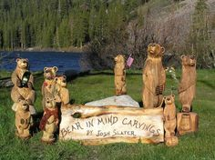 Bear in Mind Carvings of Mammoth Lakes - home Mammoth Lakes California, Hand Carved, Great Gifts, Carving, Bear, Texture, Fun, Crafts, House