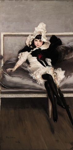 Portrait of Giovinetta Errazuriz, by Giovanni Boldini, 1892