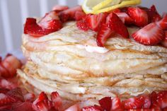 Lemon Strawberry Crepe Cake - delia creates
