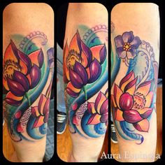 Lotus Flower tattoo done by our resident artist Aura Espinosa