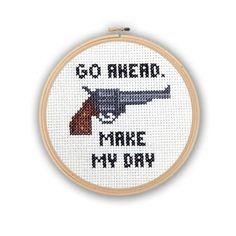 Dirty Harry would have approved! A cross stitch nod towards this movie!