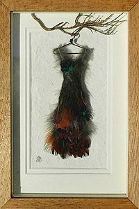 Slender Pheasant Feather Dress  The Faerie Tailor's Clothing Catalogue