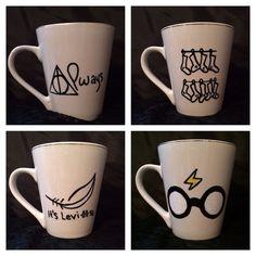 Sorry I'm not sorry! Harry Potter inspired coffee mug set by KynasKreations on Etsy, $30.00