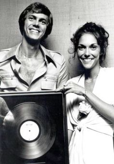 The Carpenters with just one of their many certified gold albums. Richard Carpenter, Karen Carpenter, Karen Richards, The Expendables, Old Soul, Vintage Music, Hush Hush, Music Bands, Music Artists