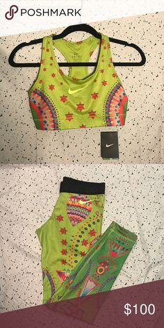 NWT Rare SET! Nike Tight of the Moment Bundle This rare set is brand new With Tags! Ideal for a collector or anyone who loves a fun print. Nike Pants Leggings