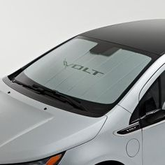2015 Volt Sunshade Package - Sunshade, Silver with Volt logo 23446096 Chevrolet Volt, Chevrolet Silverado, Chevy Dealerships, Chevy Vehicles, Folded Up, Chevy Trucks, Bag Storage, Sunny Days, Packaging