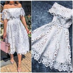 A-Line Off-the-Shoulder Short Light Gray Lace Homecoming Dress with Ruffles - Moda Cute Dresses, Casual Dresses, Short Dresses, Summer Dresses, Formal Dresses, Elegant Dresses, Dresses Dresses, Romantic Dresses, Tight Dresses