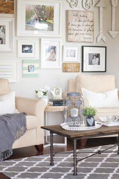 Gallery wall + DIY industrial coffee table. | Paddington Way.