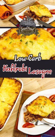 Low-Carb Kohlrabi-Lasagne. Lasagne ohne Nudeln? Kein Problem mit diesem leckeren Low Carb Rezept. Die Kohlrabi-Lasagne ist aus guten Zutaten ganz ohne Weißmehl gemacht und passt einfach wunderbar in deine Low Carb Ernährung. Im Rezept-Video kannst Du ganz genau sehen, wie die Kohlrabi-Lasagne zubereitet wird :)