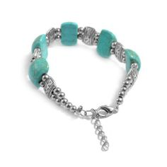 Rosallini Woman Simulated Plastic Turquoise Bracelet Bangle Silver Tone Teal Blue Rosallini. $4.59. Max. Width : 1.6cm/0.6'';Color : Silver Tone, Teal Blue. Package Content : 1 x Bracelet. Material : Metal, Plastic;Girth : 16.3cm/6.4''. Net Weight : 18g. Product Name : Bracelet;Fit for : Women