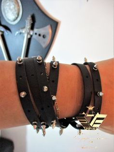 2 in 1 product can be weared as bracelets and as well as choker . Leather Harness, Leather Men, Bohemian Jewelry, Boho, Unisex Gifts, Handmade Products, High Collar, Italian Leather, Gifts For Women