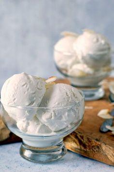Kókuszfagylalt recept Love And Gelato, Frozen Yogurt, Sorbet, Parfait, Ice Cream, Cupcakes, Sweets, Food, Snacks
