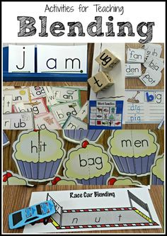 Activities for teaching students to blend words. Fun for centers or for small group instruction.