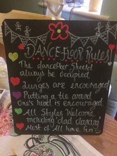 Dance floor sign diy