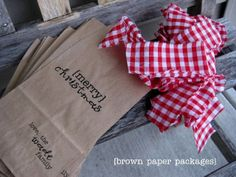 {paper sack gift bags} - Simply Kierste. How to send paper lunch bags through the printer.