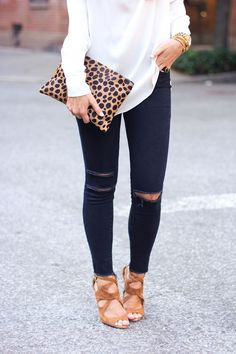 Style inspriartion: for my black skinnies, a little class