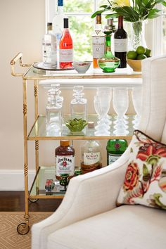 Jan Showers bar cart.