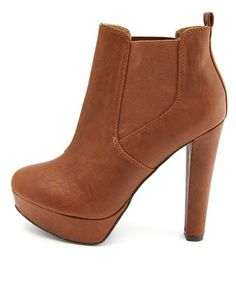 Textured Pleather Thick-Heel Bootie: Charlotte Russe $40