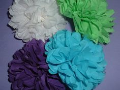 12 Paper poms. Bbay shower bridal shower decorations by PomMagic, $37.00