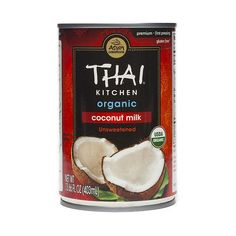Thai Kitchen Organic Coconut Milk is unsweetened and made from the pressing of fresh, ripe, organic coconut meat. Use it for curries, satay sauces, baked or frozen desserts, and drinks.
