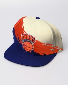 1b6b2e10e9ec5 Mitchell   Ness New York Knicks NBA Paintbrush Snapback Hat