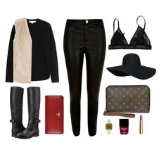 """London outfit inspo for October"" by theindianchick on Polyvore featuring Alexander Wang, River Island, Louis Vuitton, Vivienne Westwood, Topshop, Butter London, H&M and MM6 Maison Margiela"