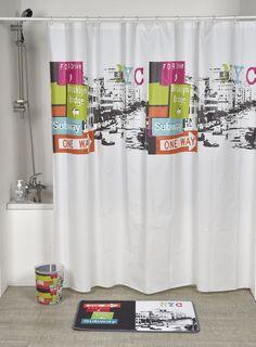 Urban NYC Printed Shower Curtain