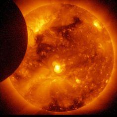 Solar Eclipse, Ending (NASA, Hinode, 01/07/11) by NASA's Marshall Space Flight Center, via Flickr