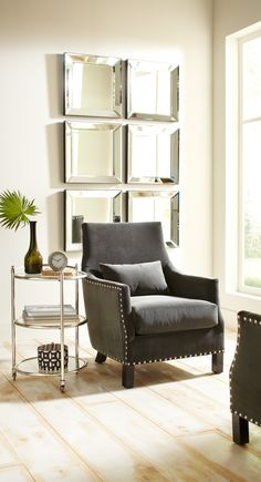 Sink into the soft velvet of our Mina Chair and devour a good book.