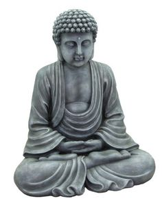 HI-LINE GIFT Harmonious Buddha Sitting Statue by HI-LINE GIFT. $50.00. Great for a tranquil garden space. Use inside your house as an inspirational accent piece. Made of polyresin. One look at our harmonious buddha and you'll be filled with zen-like feeling. the magnificent form of this sitting buddha statue can be placed in a quiet garden or flower bed where he can meditate, undisturbed in the tranquil surroundings, creates a peaceful upgrade to your garden de...