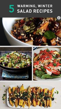 5 Healthy, Warm Salads to Enjoy All Winter #healthy #salad #winter