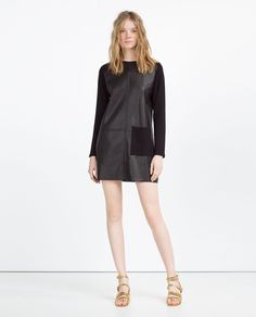 FAUX LEATHER DRESS-View All-LEATHER-WOMAN | ZARA United States