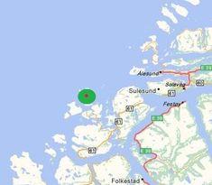 kaart vogeleiland Runde, Noorwegen