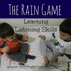 Teaching children listening skills with a simple, fun, and hands-on activity.