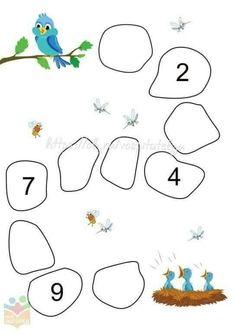 Math Worksheet for Kindergarten - Match 1 to 5 Kindergarten Addition Worksheets, Printable Preschool Worksheets, Subtraction Kindergarten, Preschool Writing, Numbers Preschool, Preschool Learning Activities, Free Activities, Kids Education, History Education