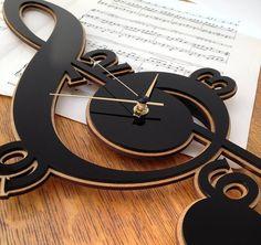 treble clef clock by neltempo | notonthehighstreet.com
