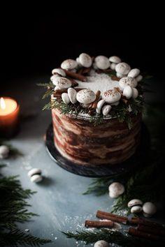 Spiced Hot Chocolate Layer Cake #HotChocolate #LayerCake #CakeFromScratch