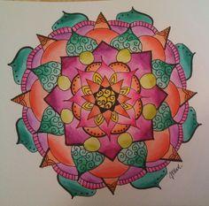 Ink and watercolor mandala by jen marsh