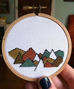 Mountain Time Cross Stitch add quote the mountains are calling and I must go