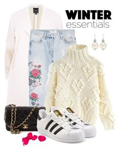 """""""Winter essentials"""" by beakta ❤ liked on Polyvore featuring MANGO, Chicwish, Chanel, adidas Originals and Simone Rocha"""