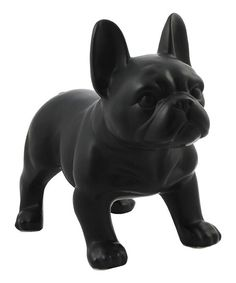 Enliven your space with a canine touch courtesy of this smoothly shaped figurine.