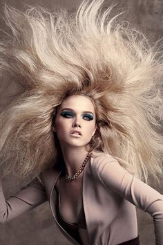 Huge Lioness Blonde Hairstyle
