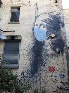 Arte Banksy, Banksy Artwork, Banksy Graffiti, Bansky, Bristol Cathedral School, Vermeer Paintings, Street Art Banksy, Architecture Art Design, Spray Paint Art