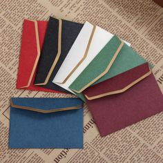 VIVID Vintage Bronzing Paper Envelope 10X7CM High-end Business Invitation Envelopes 100PCS