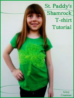 Shamrock shirt made out of tulle that I made for Emma.