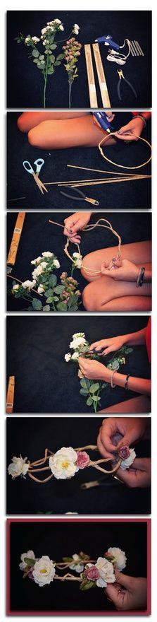 #DIY floral , woodland inspired